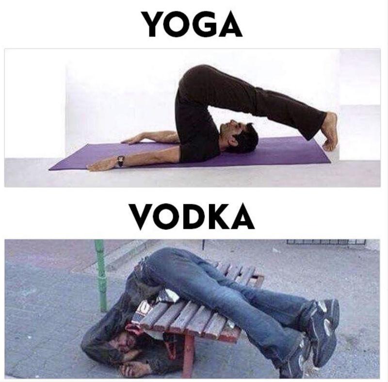 yoga vs vodka