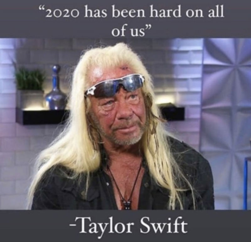 2020 has been hard on all of us taylor swift meme