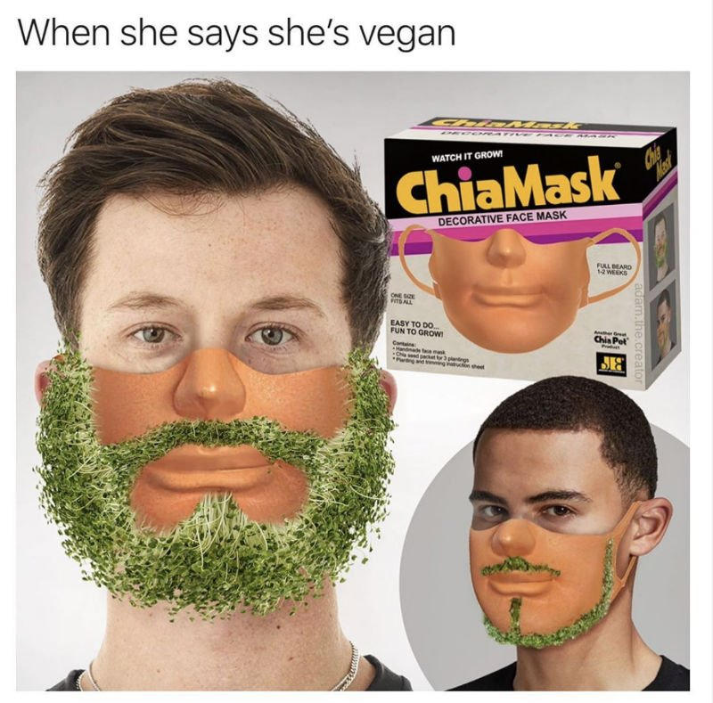 chia mask meme