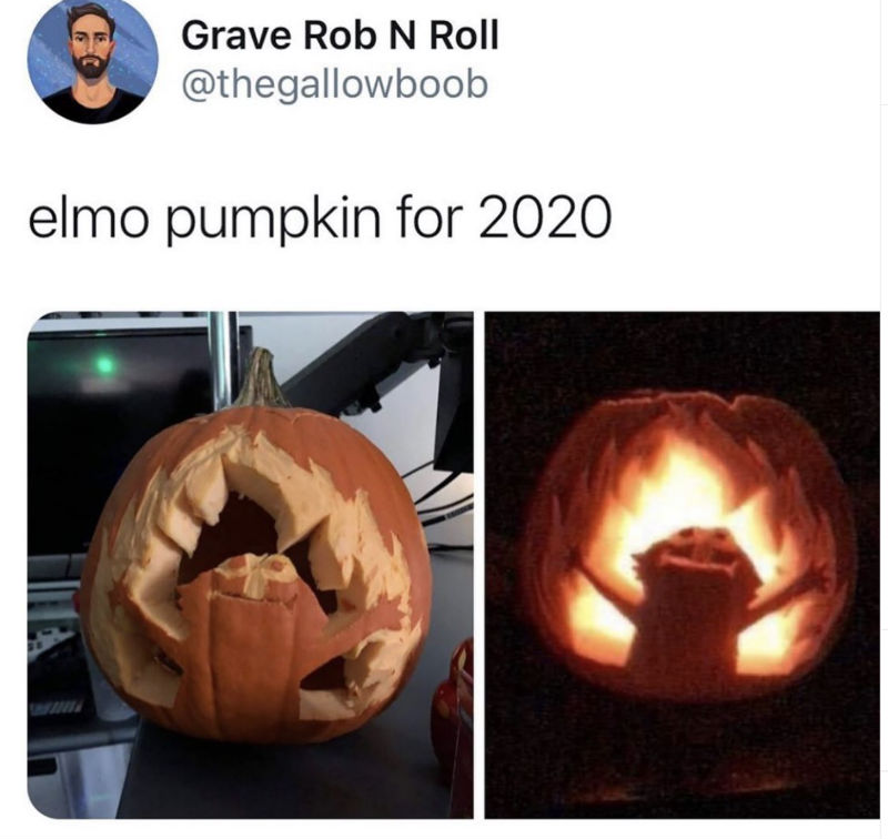 elmo pumpkin for 2020