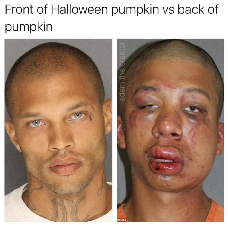 front halloween pumpkin