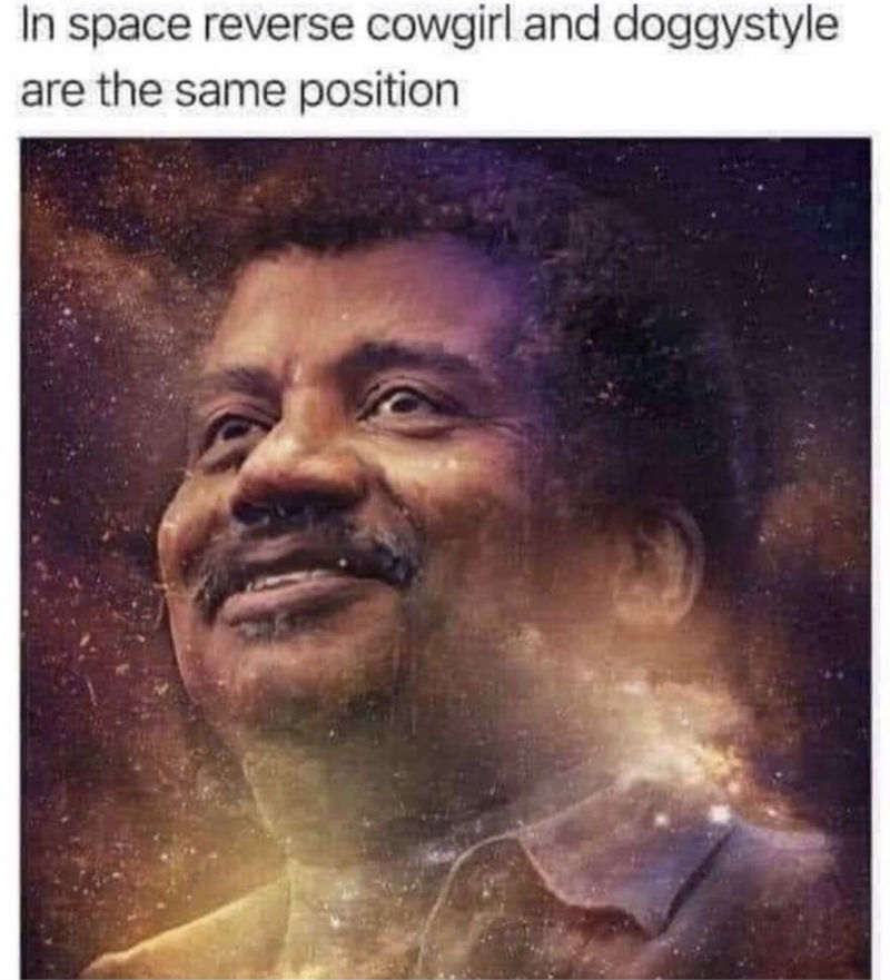 in space reverse cowgirl is the same