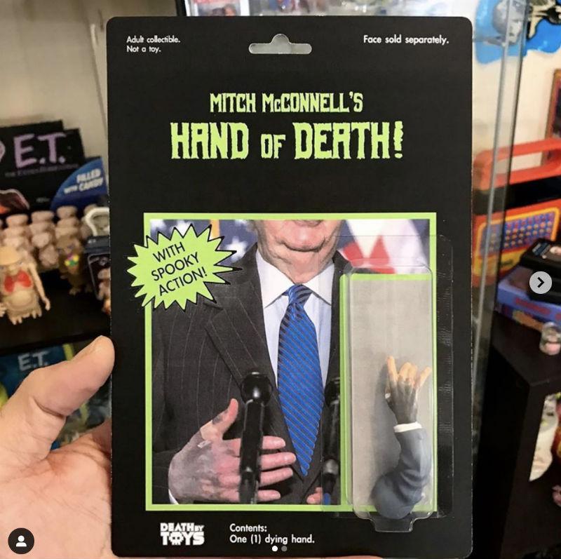 mitch mcconnels hand