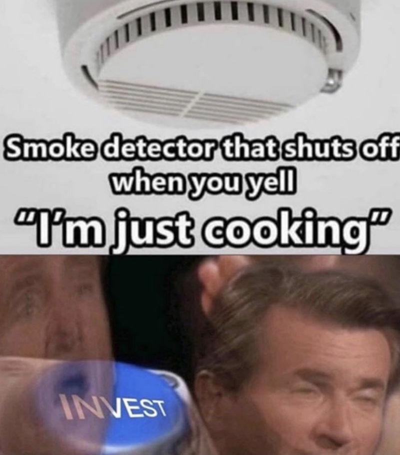 smoke detector that shuts off