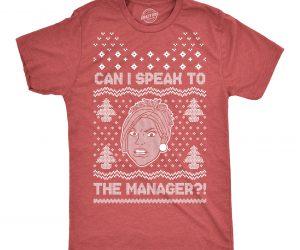 Karen Ugly Christmas Sweater Tee – Let me speak to the manager… of Christmas!