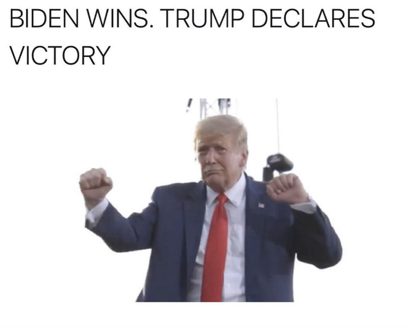 biden wins trump declares victory