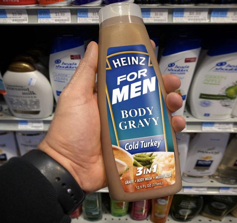 heinz for men body gravy