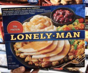 Lonely Man Thanksgiving Dinner – Meme