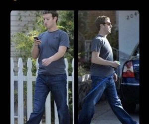 Mark Zuckerberg Wearing Human Clothes – Meme