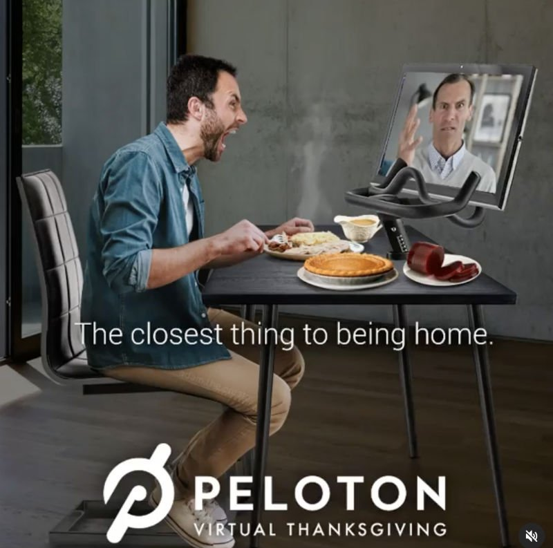 peloton thanksgiving