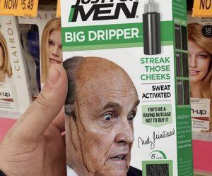 Rudy Giuliani Just For Men Big Dripper Hair Dye – Meme