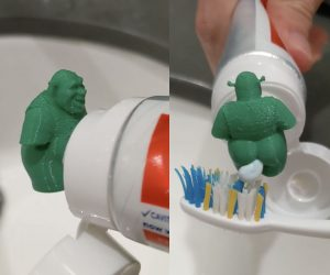 Shrek Pooping Toothpaste Cap -Attach this to your toothpaste and the rest is magic.