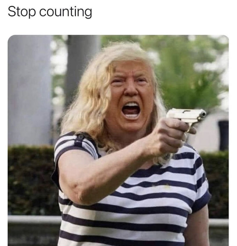 trump karen stop counting meme