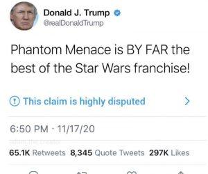 Trump Phantom Menace Tweet – Meme