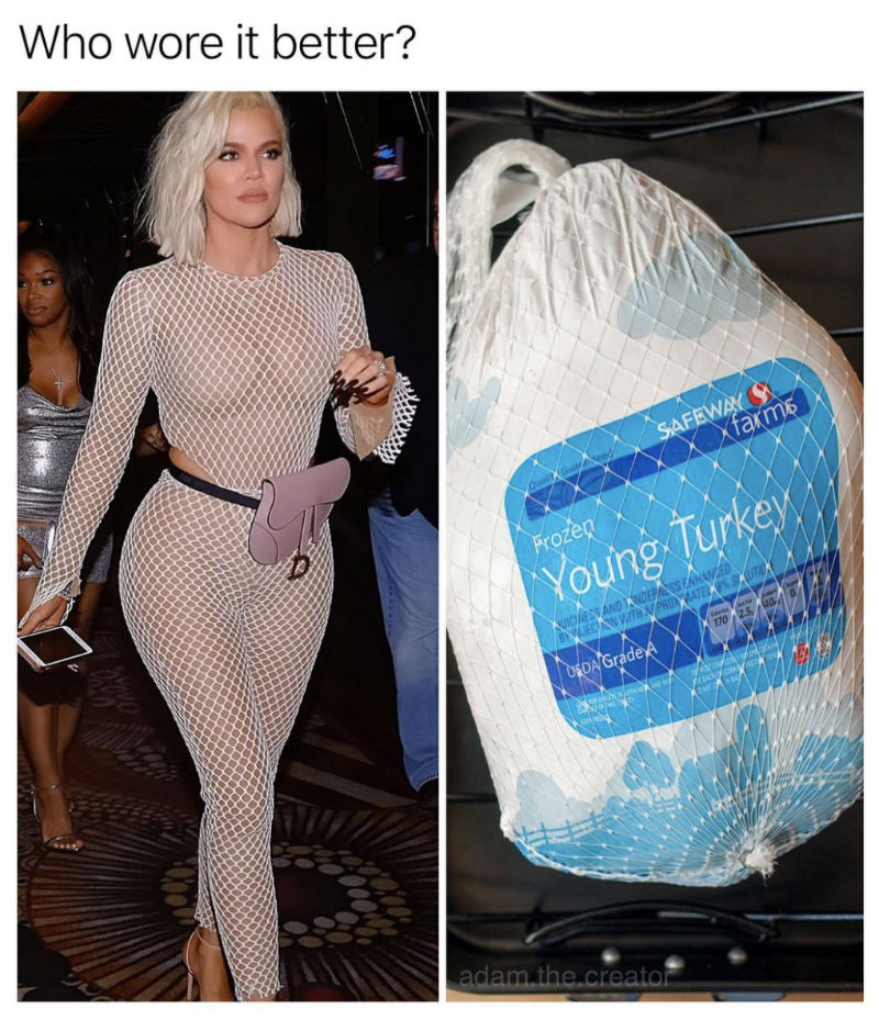 who wore it better khloe or turkey