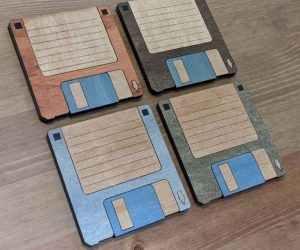 Floppy Disk Coasters – Relive the glory days of computers in the '80s with these floppy disks coasters!