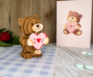 Bad Bear Inappropriate 3D Greeting Card – Well isn't this teddy bear sneaky as f***.
