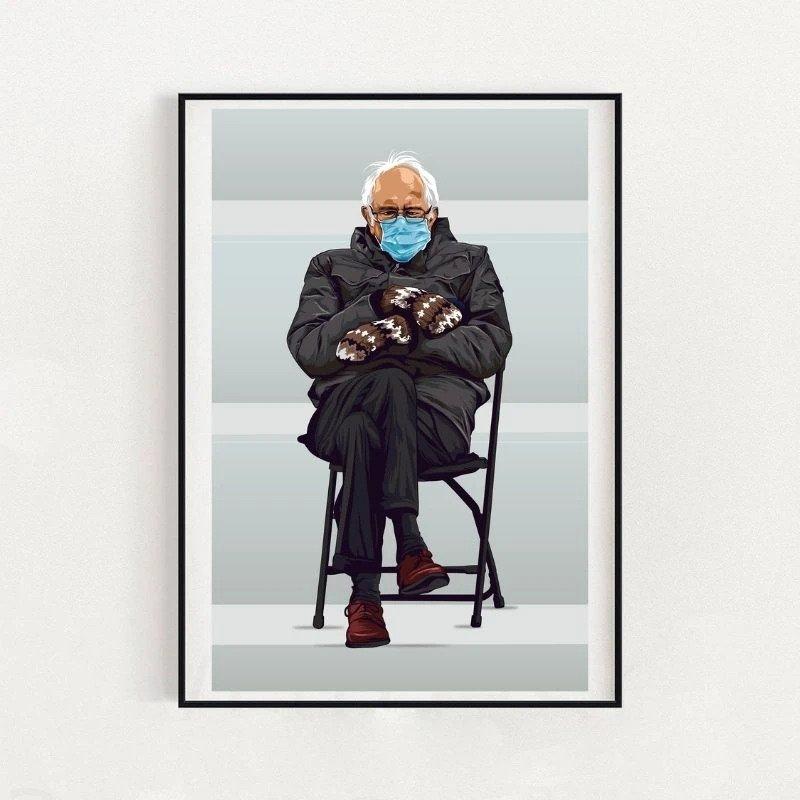 bernie sanders mittens meme poster