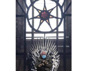 Bernie Sanders Wearer Of Mittens Sitter Of Chairs – Thrones Meme