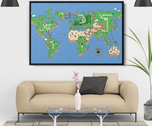 Super Mario World Map –Display your inner love for Super Mario with this Super Mario World Map!