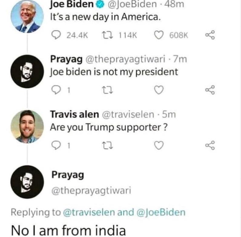 joe biden is not my president meme