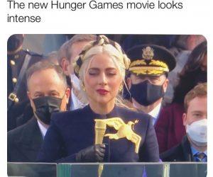The New Hunger Games Looks Intense Lady Gaga Inauguration Meme