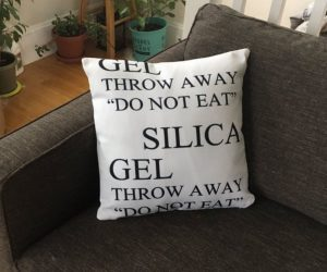 Silica Gel Throw Pillow – Do not eat this Silica Gel Throw Pillow!