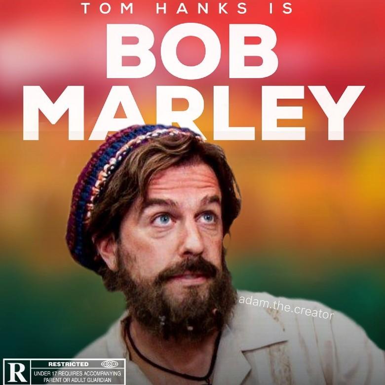 tom hanks is bob marley meme