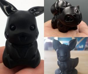 Hand-Carved Obsidian Pokemon –These hand-carved Obsidian Pokemon Crystals are the best gift for any Pokemon fan!