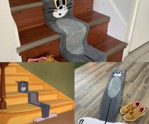Flat Tom Stair Rug – This Tom rug looks like something straight out of the cartoon!