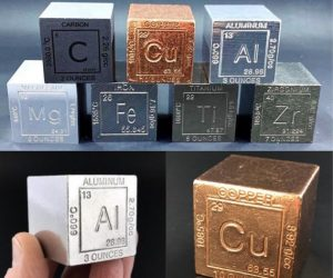 Metal Element Cubes –Start your collection of solid elements of the Periodic Table today!