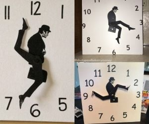 """Ministry Of Silly Walks Wall Clock –This clock is based on John Cleese's sketch """"The Ministry of Silly Walks"""" from Monty Python's Flying Circus!"""