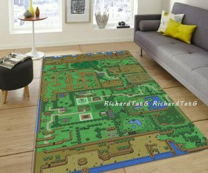 Zelda Map Rug -Add more fun to your living room with this Zelda Map Rug!