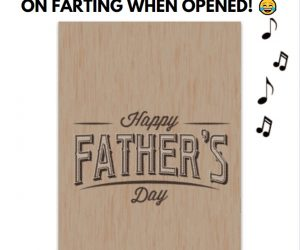 Endless Father's Day Farts With Glitter –Endless Father's day card plays fart noises non-stop for over THREE hours!