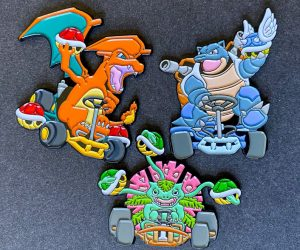 Poke'Karts Pins –Bringing back a fan-favorite design, the Poke'Karts! Mixing two of my favorite games of all time, Pokémon and Mario Kart!