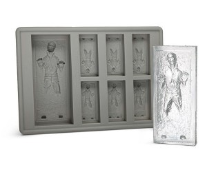 Han Solo Ice Cube Tray – Perfect for reenacting your very own Jabba the Hutcarbonite freezing scene.