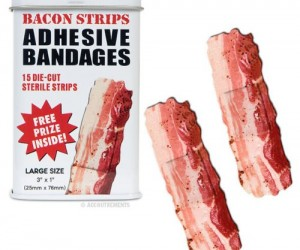 Are you a lover of bacon? Who isn't? Then why not let God's most glorious gift heal your wounds, with the Bacon Strips Adhesive Bandages. Bacon Band