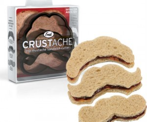 Who wouldn't want their sandwich in the form of a mustache I know I would. Well now you can with the crustache mustache sandwich cutter!