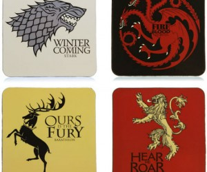 Brace yourselves winter is coming,.. Grab your 4 set Game of Thrones coasters now before its too late. Items include winter is coming,