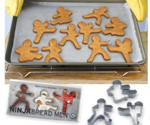 Grab yourself a ninjabread men cookie cutter and you'll be serving up sweet deadly ginger ninja bread cookies in no time.