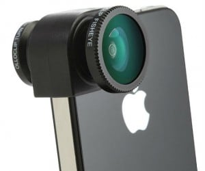 Now you can take pictures on your iPhone like a pro with the olloclip camera lens, this cool lens featuresfisheye lens, macro lens, and wide-angle lens