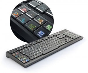 The Optimus Maximus OLED Keyboard by Art Lebedev is finally here, this keyboard is revolutionary in that each key contains its own OLED screen, this mean that each key