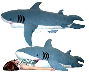"""Sleep with the fishes with this hilarious """"Chumbuddy"""" shark sleeping bag!"""