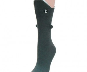 Make it looks as if your leg is being devoured by a vicious shark, with the super cool Shark Bite 3 Dimensional Socks