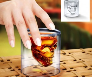 What's manlier than taking a shot out of a skull?  With the Doomed Crystal Skull Shot Glass that is exactly what you'll be doing as you intimidate any potential clientele