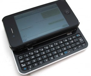 Now you no longer have to worry about pressing the wrong key with the Bluetooth Sliding Keyboard Case for iPhone.