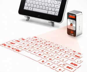The future has arrived. The virtual keyboard for iphone and ipad featuresProjects a full-size laser keyboard onto any flat surface