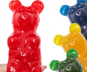 World's largest gummy bear weighs over 5 pounds and contains more than 32,000 calories!