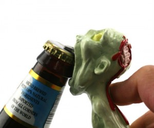 Brainsss I mean beersss… Why use are regular boring old bottle opener when you could be using the Zombie Bottle Opener?