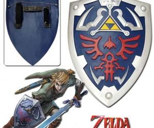 Hylian Zelda Shield – It's dangerous to go alone so take this full size hylian zelda shield with you.